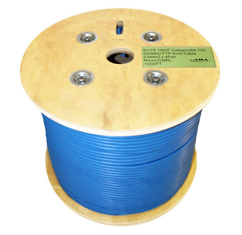 CAT6A 10G STP(shielded) CMR SOLID  #23AWG  IN REEL