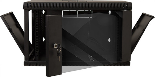 """6U Fixed Wall Mount Cabinet 14.57""""H x 23.62""""W x 17.72""""D  132 LBS RATED"""