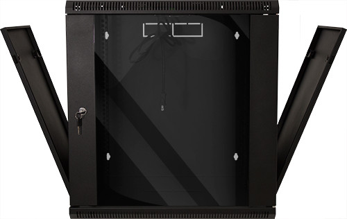 """12U Fixed Wall Mount Cabinet 25""""H x 23.62""""W x 17.72""""D  132 LBS RATED"""