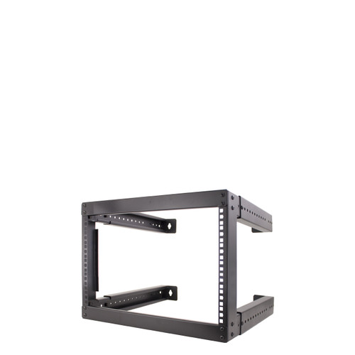 """8U OPEN WALL MOUNT. ADJUSTABLE DEPTH FROM 18""""-30"""". WITH M6 SCREWS & CAGE NUTS"""