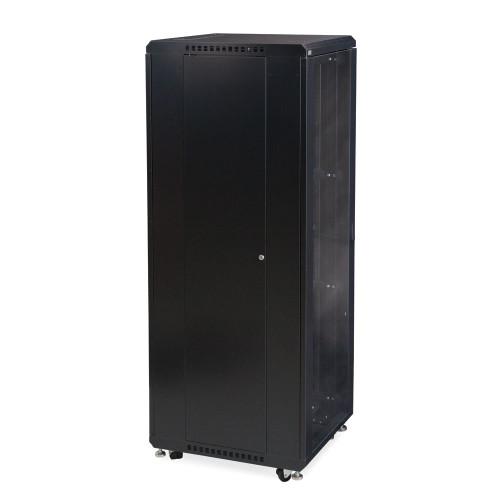 """37U LINIER® Server Cabinet - Glass/Solid Doors - 24"""" Depth"""