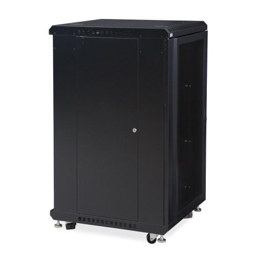 """22U LINIER® Server Cabinet - Convex/Convex Doors - 24"""" Depth"""