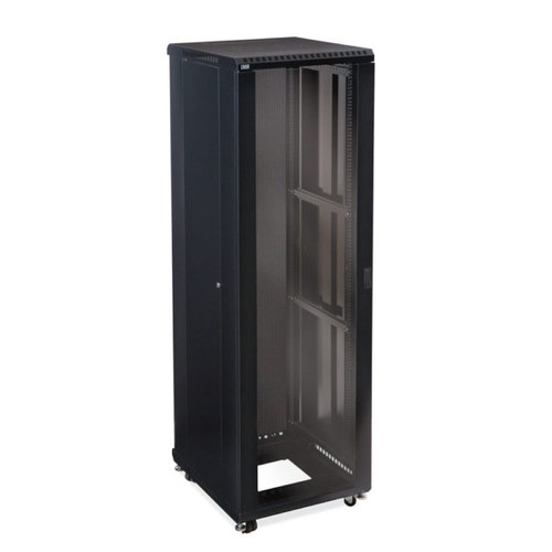 "42U LINIER® Server Cabinet - Glass/Vented Doors - 24"" Depth"