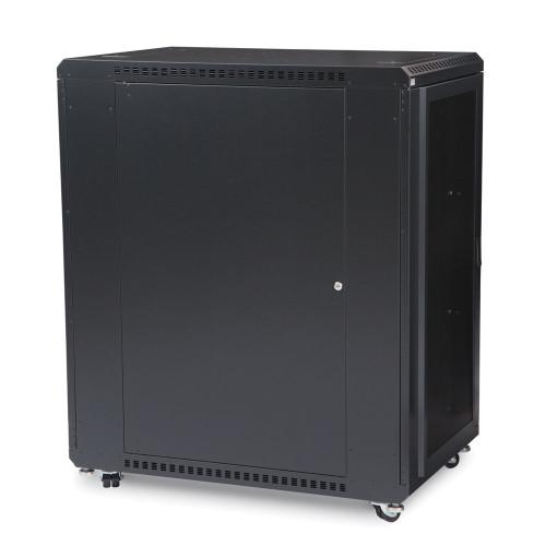 "22U LINIER® Server Cabinet - Convex/Glass Doors - 36"" Depth"