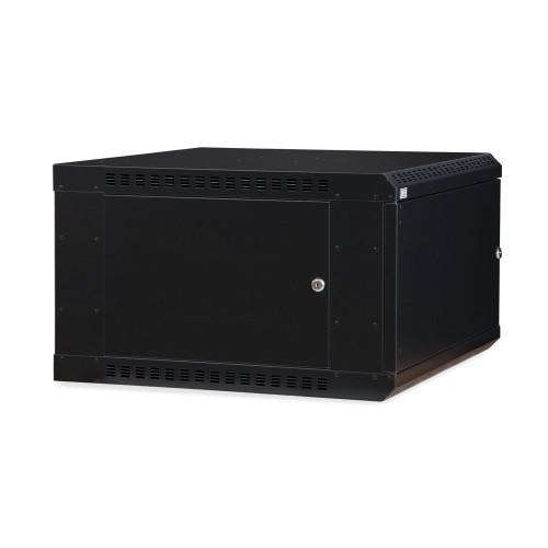 6U LINIER® Fixed Wall Mount Cabinet - Solid Door