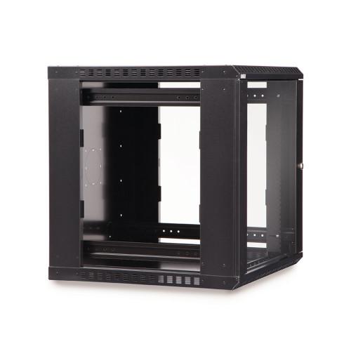 12U LINIER® Fixed Wall Mount Cabinet - Glass Door