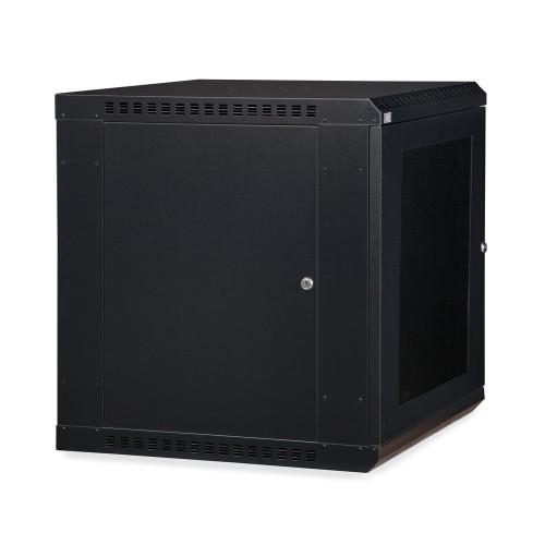 12U LINIER® Fixed Wall Mount Cabinet - Vented Door