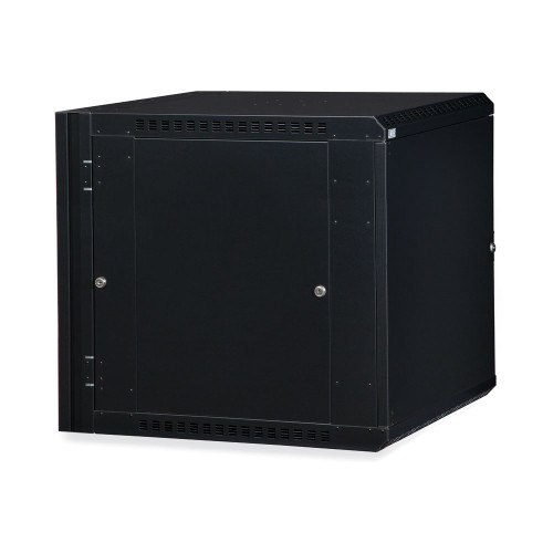 12U LINIER® Swing-Out Wall Mount Cabinet- Solid Door