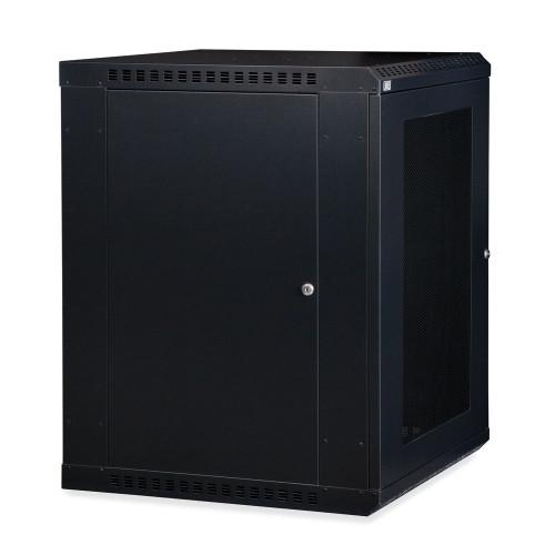 15U LINIER® Fixed Wall Mount Cabinet - Vented Door
