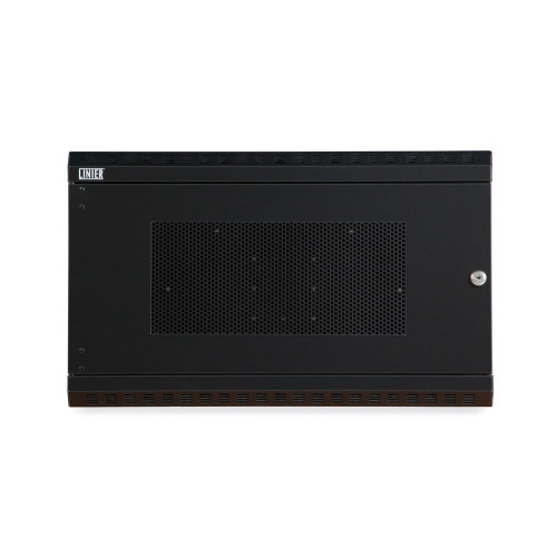 6U LINIER® Fixed Wall Mount Cabinet - Vented Door