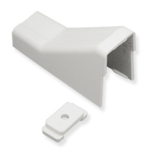 1 1/4″ Cable Raceway Ceiling Entry and Clip-10-Pack-White