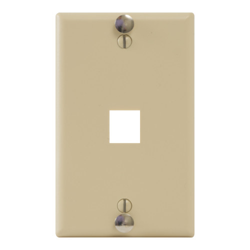 Telephone Faceplate with 1 Port for EZ®/HD Style and Hanging Standoffs