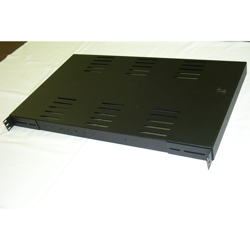 "Shelf Fixed  22.283""D, Black Heavy Duty"