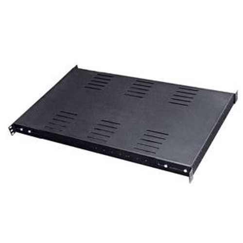 "Shelf Fixed Vented 28""D Black Heavy Duty 400 lb"