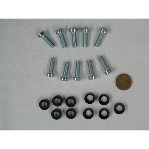 Screws w/Plastic Cup (10 per bag)(for M6 Cage Nut)