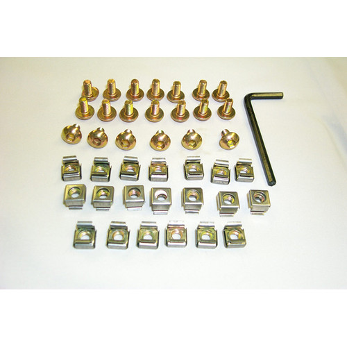 Cage nuts and Screws M6 Type 20 set/Bag