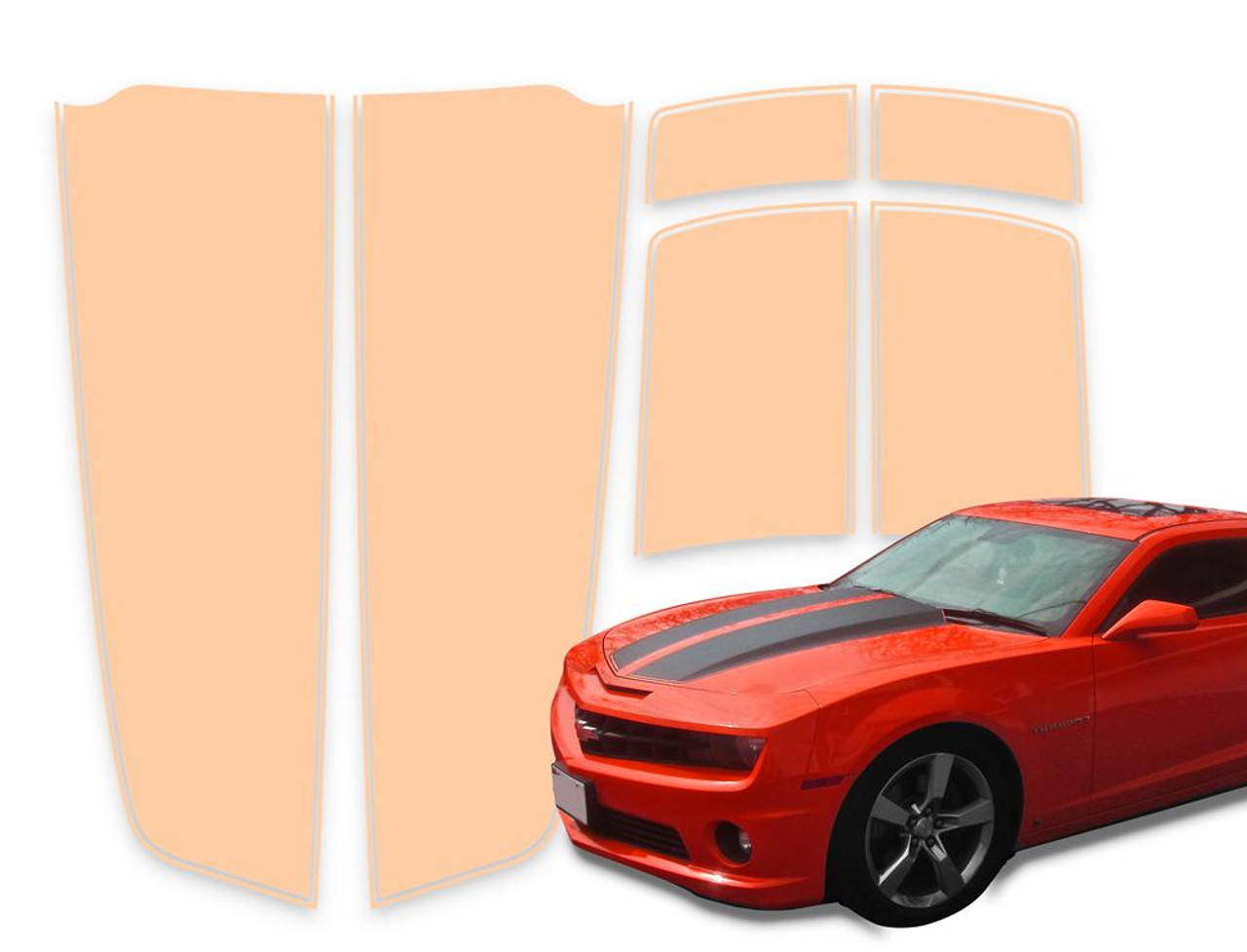 Camaro Racing Stripes Salmon Die Cut 2010 2015 Chrome Camouflage