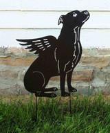 Winged Pit Bull Garden Stake