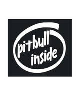 Pit Bull Inside Decal