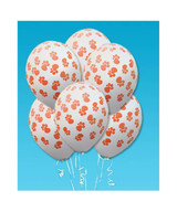 Paw Print Party Balloons (Pack of 6)