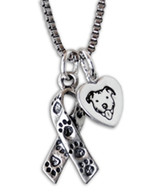 Pit Bull Awareness Ribbon Necklace (S2)