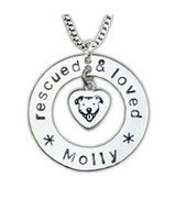 Rescued and Loved Pit Bull Necklace
