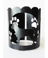Pit Bull Jar Candle Holder