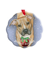 Peaceful Pit Bull Porcelain Ornament