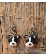 Itty Bitty Pittie Earrings (Black - Natural Ears)