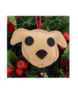 Pit Bull Ornament - Tan- Natural Ears