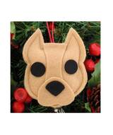 Pit Bull Ornament - Tan- Cropped Ears