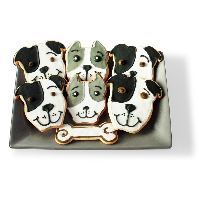 Pit Bull Face Cookie Cutter (Natural Ears)