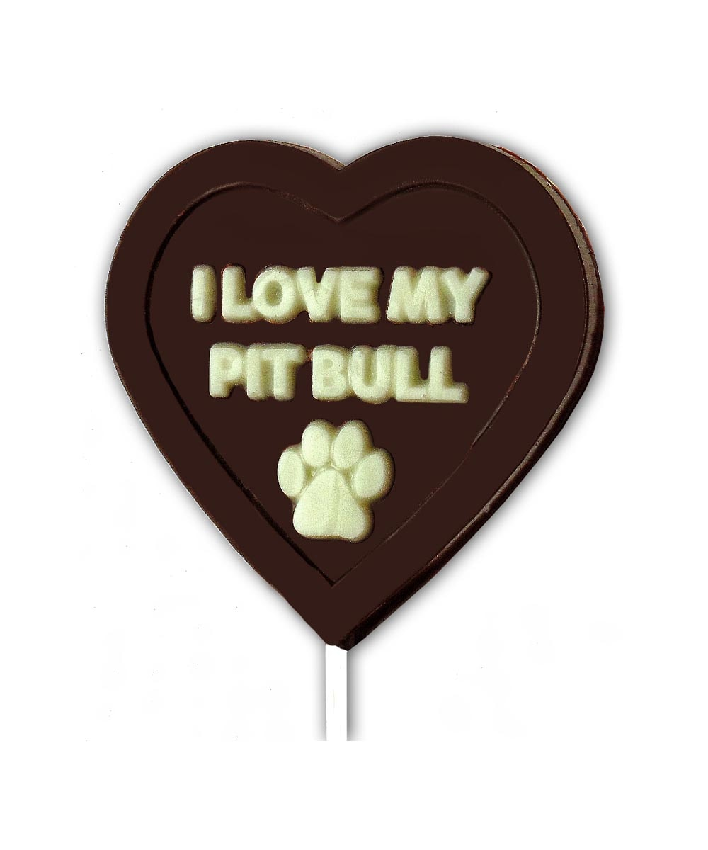 I Love My Pit Bull Chocolate Mold