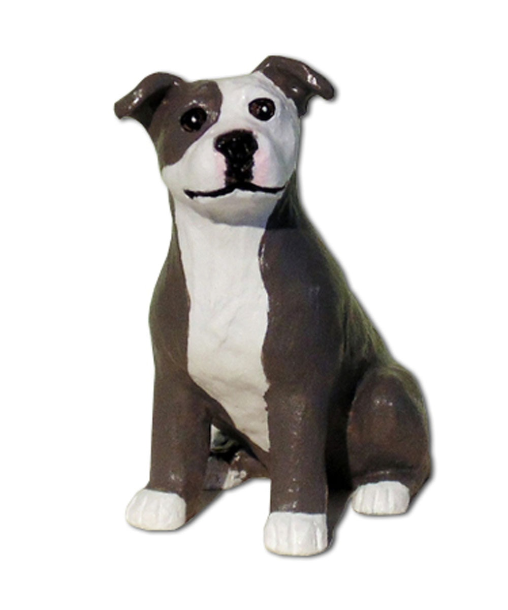 Custom Painted Pit Bull Figurine