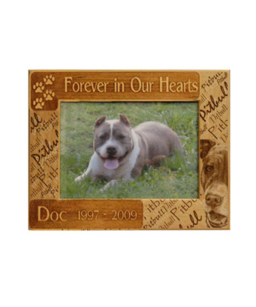 Memorial Pit Bull Picture Frame