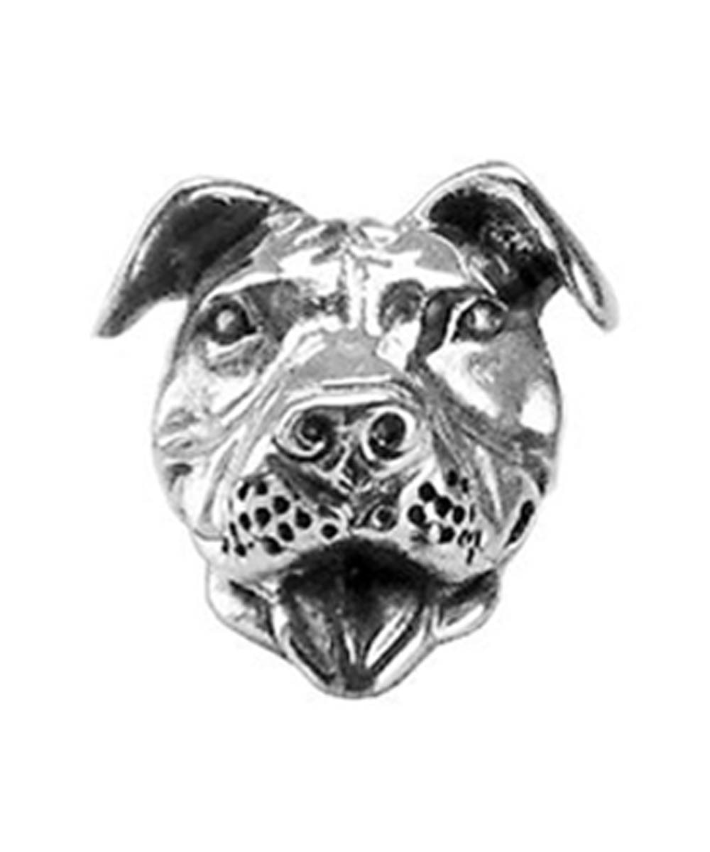 Sterling Silver Smiling Pit Bull Charm
