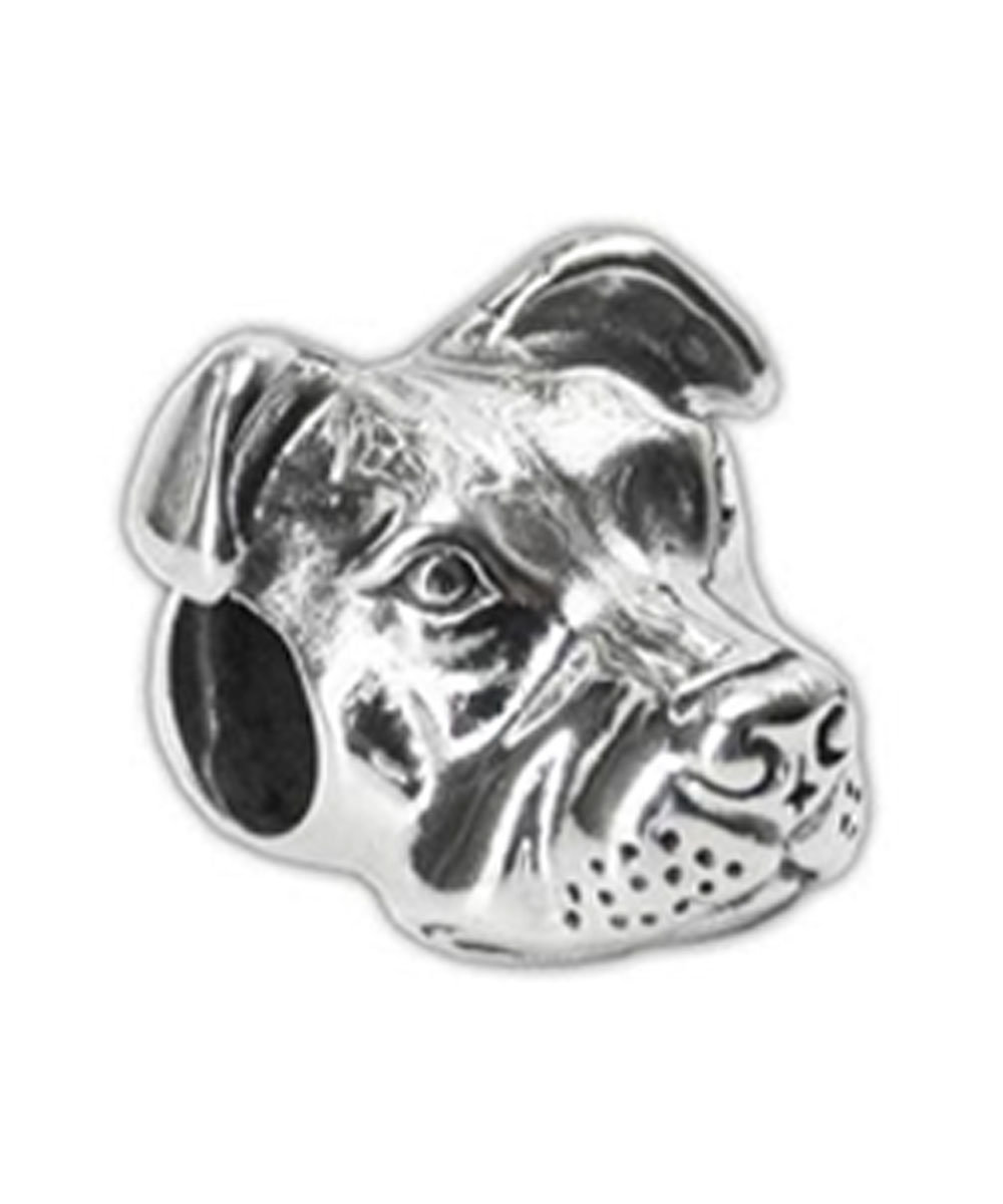 Sterling Silver Peaceful Pit Bull Charm
