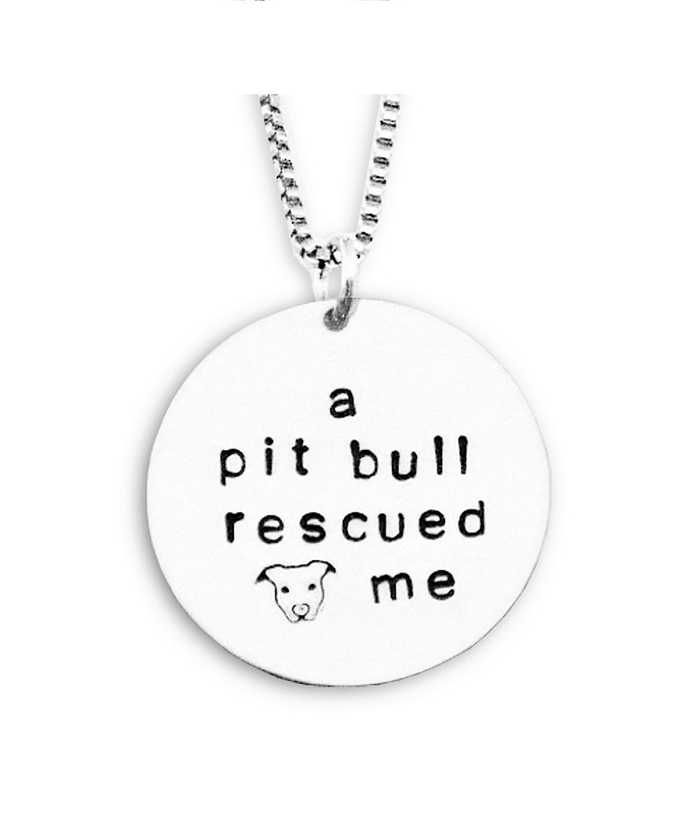 A Pit Bull Rescued Me Necklace