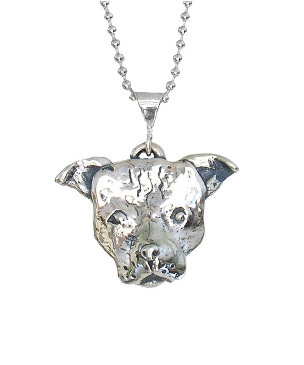 Small Pit Bull Face Necklace