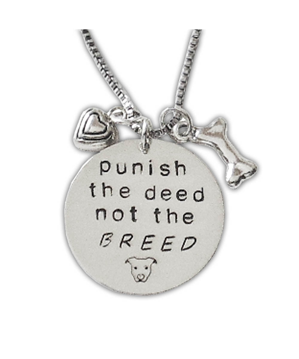 Punish the Deed Not The Breed Necklace