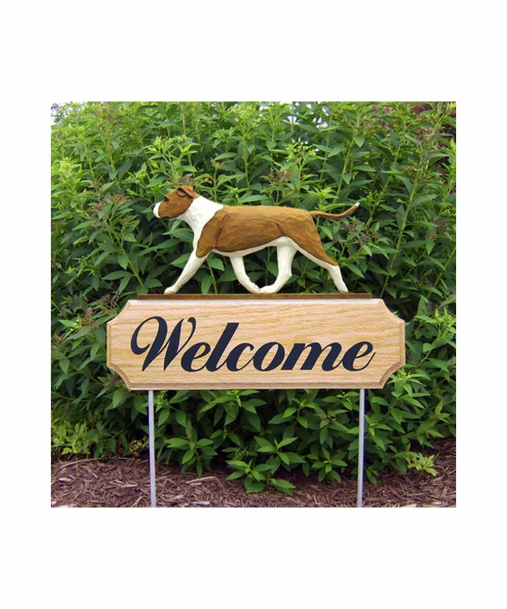2-D Pit Bull Welcome Stake