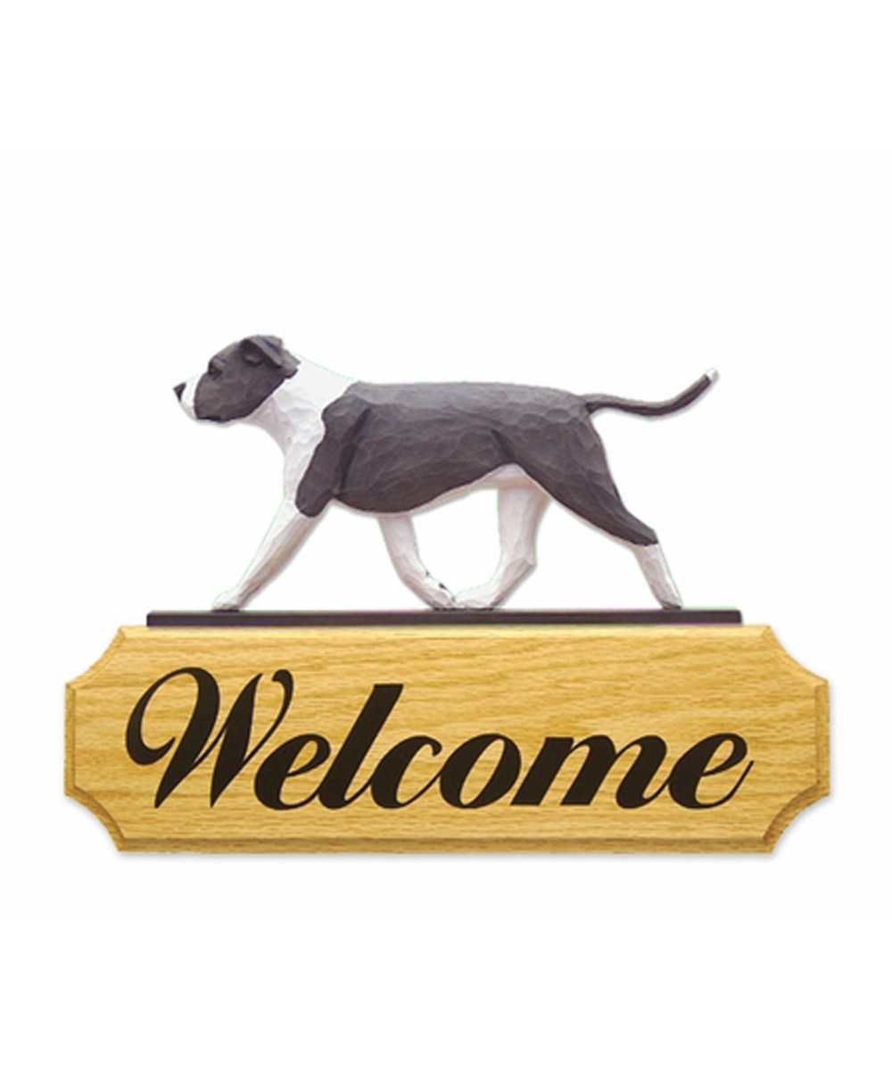 2-D Pit Bull Welcome Sign