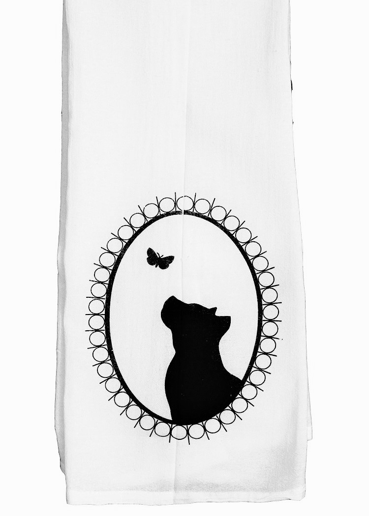 Cameo Pit Bull Tea Towel