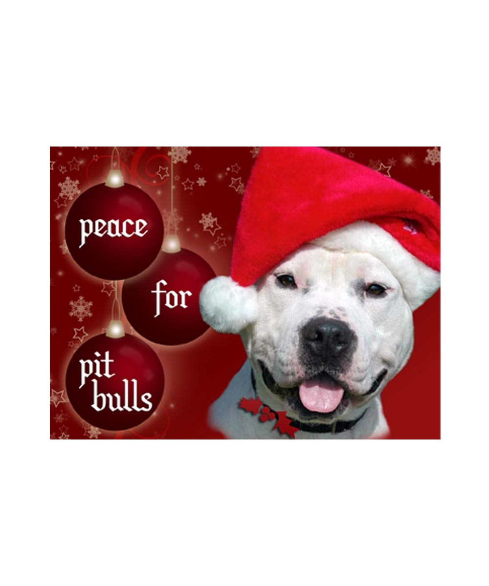 Fawn Pit Bull Christmas Cards Peace on Earth Pack of 10