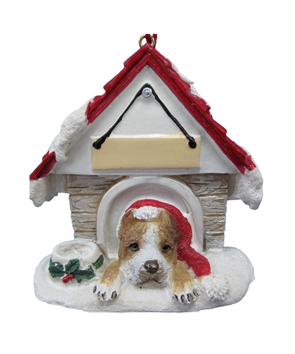 Pit Bull Dog House Ornament