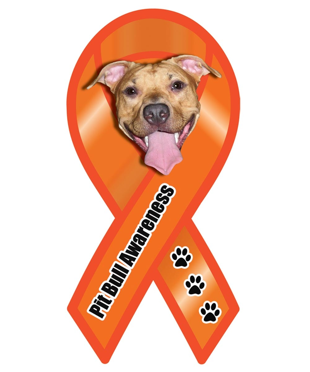 Pit Bull Awareness Ribbon Magnet