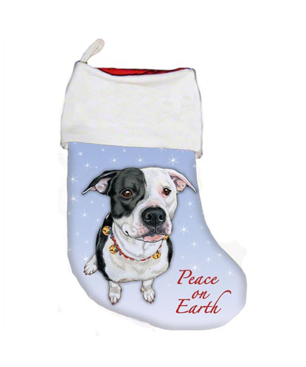 Pit Bull Christmas Stocking (Black & White)