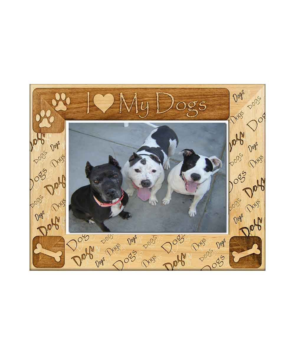 I heart my dogs Picture Frame