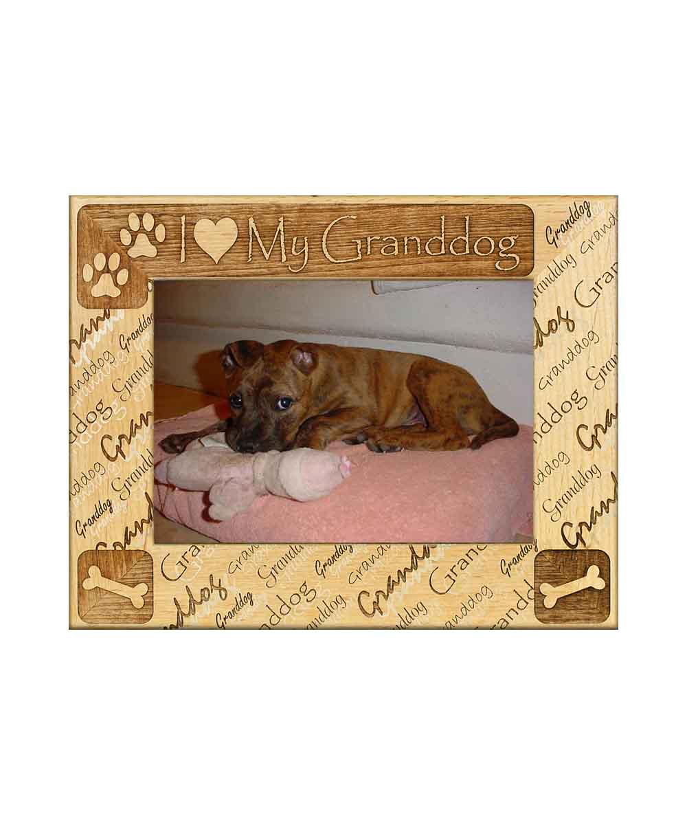 I heart my granddog Picture Frame