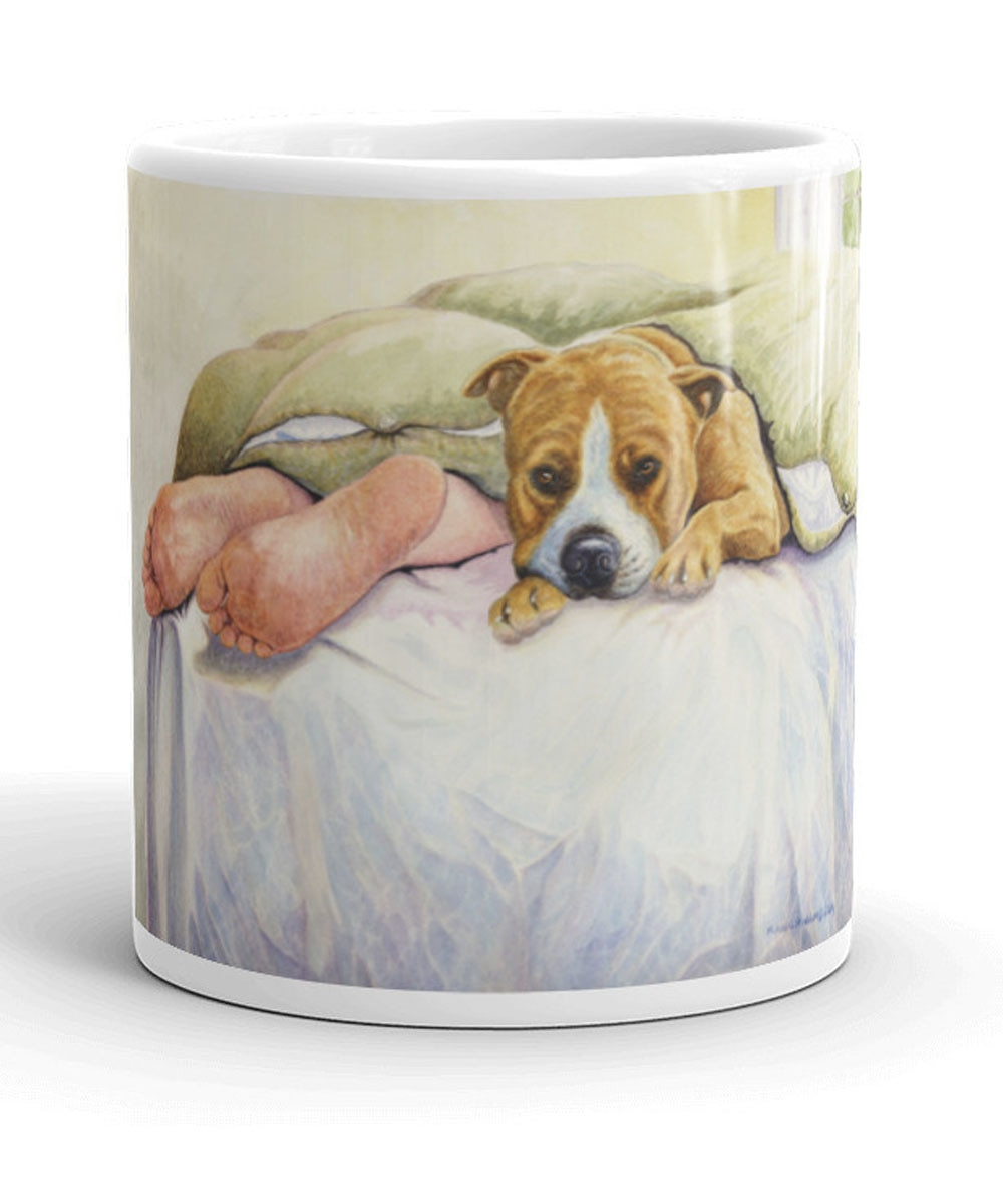 Pit Bull Mug - Under the Blanket